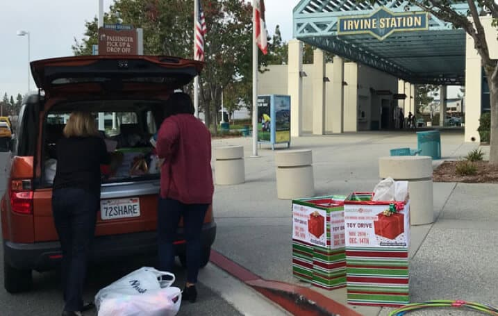 Toy Drive at Irvine Station