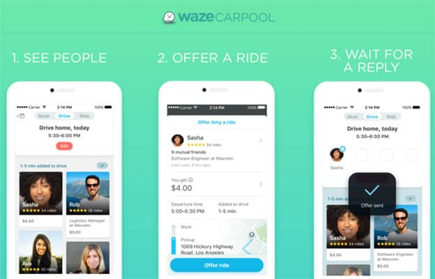 Offering a Waze Carpool Ride