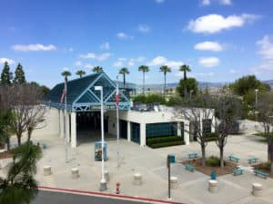 Irvine Train Station from Parking Structure