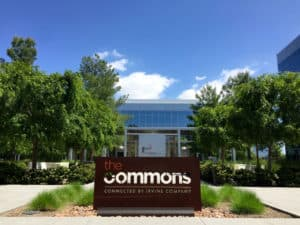 The Commons Sign at the Quad at Discovery Park, Irvine Company Property